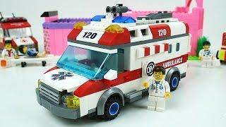 Машинки мультфильм - Лего Скорая помощь - LEGO Stop Motion Ambulance - Развивающие мультики
