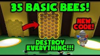 35 BASIC BEES *NEW CODE* Bee Swarm Simulator