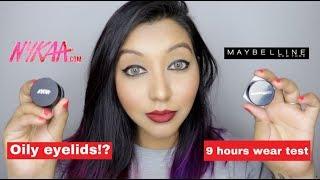 Nykaa Vs Maybelline Gel Eyeliner! Demo & Wear Test On Oily Eyelids