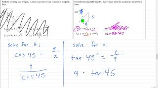 R- Trigonometry And Special Right Triangles Review