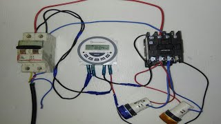 DIGITAL TIMER SWITCH SETTING  CONNECTION WITH CONTACTOR