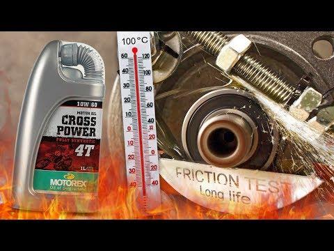 Motorex Cross Power 4T 10W60 Jak skutecznie olej chroni silnik? 100°C