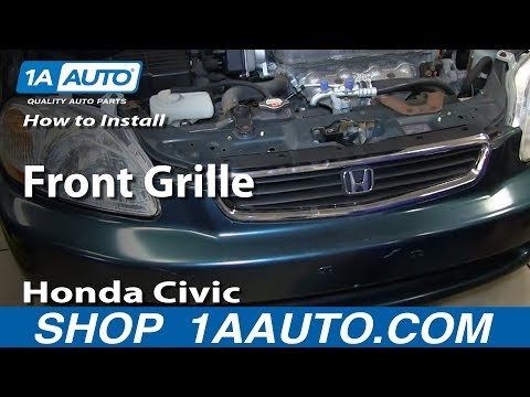 How To Install Remove Front Grille 1996-98 Honda Civic