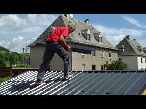 Montage SDF Dach- und Fassadensystem aus Aluminium / Installation of SDF roof and facade system