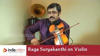 Raga Series - Raga Suryakanthi on Violin by Jayadevan