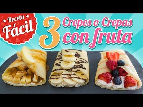 CREPS O CREPAS CON FRUTAS   Recetas fácil   Quiero Cupcakes!