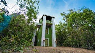 فيديو: قم ببناء أجمل منزل من ثلاثة طوابق باستخدام الطين والخيزران – Build The Most Beautiful Three Story House Using Mud and Bamboo