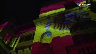 Palatul Cotroceni, iluminat în culorile Spaniei, în semn de solidaritate