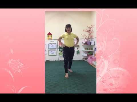 Video quay hình ( GV: Nguyễn Thị Huyền - Ôn bật liên tục vào 7 ô vòng)