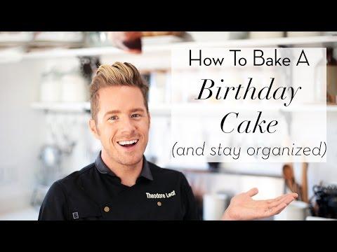 Video DIY Birthday Cake | Baking | Theodore Leaf