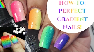 Nail Art For Beginners: How To Create PERFECT Gradient Nails!!