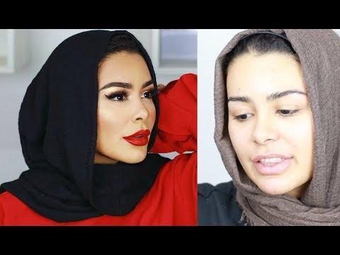 PERFECT RED LIP (STUNNA) GLAM TALKATIVE GRWM   HABIBA DA SILVA