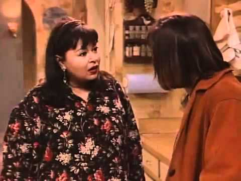 When a Sitcom got serious: Roseanne finds out Jackie got beaten by her boyfriend, Dan takes his jacket