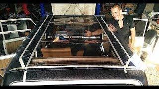 How to make a panoramic sunroof on a car for $ 80 - VazZilla, part 2