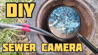 Sewer Camera - Tree Roots in Sewer - DIY Sewer Inspection Camera - rootx