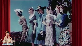 1940s Fashion - Hair Snoods And Tunic Dresses