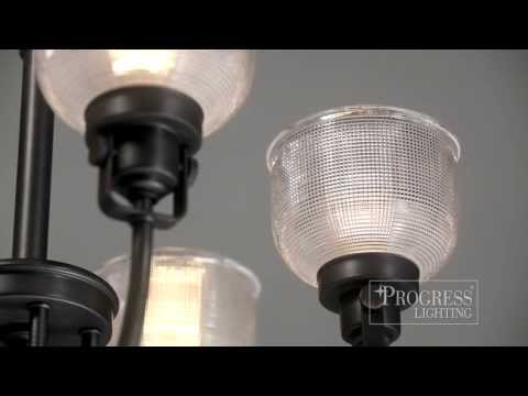 Video for P2989-81:  Archie Antique Nickel One-Light Bath Fixture