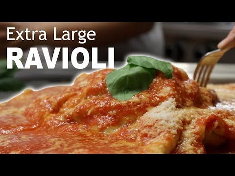 DIY EXTRA LARGE RAVIOLI - Feat. Homemade Gnocchi