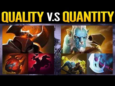 QUALITY VS QUANTITY illusions War - Chaos Knight VS Phantom Lancer Dota 2