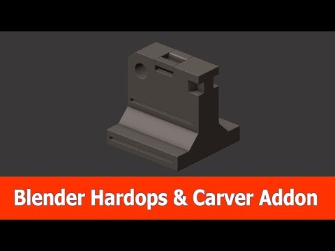 Blender Hard Surface Tutorial: Hardops & Carver Addon - Thủ thuật