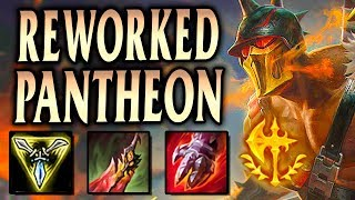 REWORKED PANTHEON TOP IS RUTHLESS! TONS OF DAMAGE!   League Of Legends S9