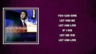 Josh Groban - Bring Him Home (Lyrics)