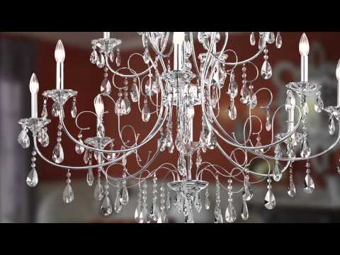 Video for Jules Chrome Six-Light Chandelier