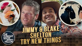 Jimmy and Blake Shelton Try Things Together | The Tonight Show Starring Jimmy Fallon