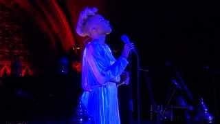 Emeli Sandé performs new song 'Sweet Architect' at a Concert in aid of Shelter, Union Chapel UK.