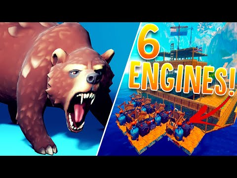 I Added 6 Engines To My Ship & Made It A Speedboat - The NEW Giant Balboa Island - RAFT