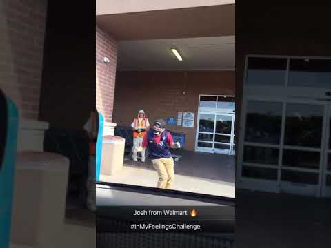 Walmart employee killing it to Drake