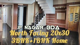 20x30 North Facing 3BHK+1BHK Indpndnt Home in BDA Layout JP Nagar