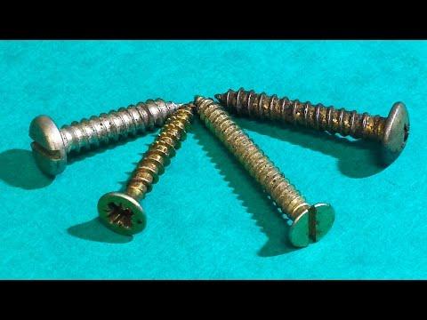 Como quitar un tornillo tirafondo oxidado y duro (rosca chapa)