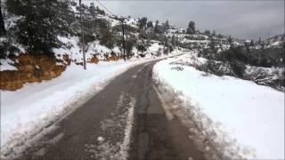preview picture of video 'ثلووج العاصفة سيبيريا فيي مدينة السلط -منطقة وادي سوادا العلوي الجزء الثاني'