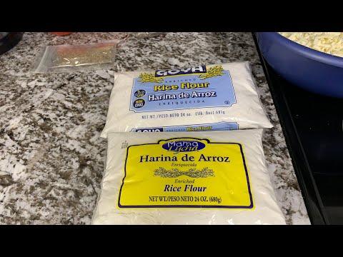 Cómo preparar masa de arroz para pupusas