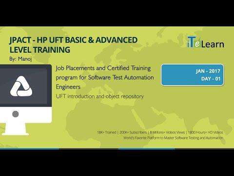 UFT Basic & Advanced Level Training Day 01 (JPACT) - YouTube