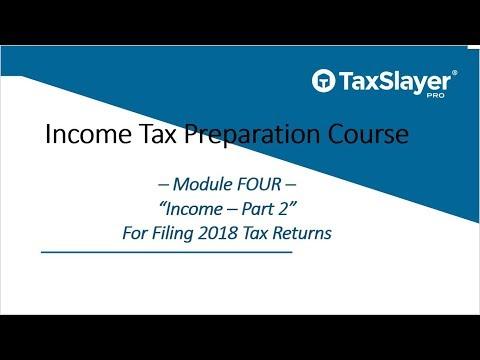 Tax Preparation Course for Professional Preparers (Module 4, Part 2 ...