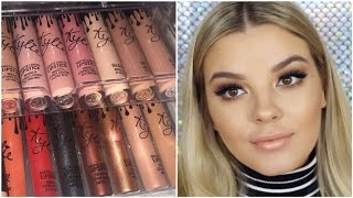Kylie Jenner LipKit Swatches ♡ Glosses Metals Exposed ♡Jasmine Hand