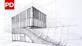 Drawing Termeh Office Commercial Building | Daily Architecture Sketches #10