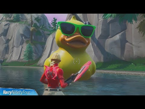 Visit a Giant Beach Umbrella and a Huge Rubber Ducky Location  - Fortnite (14 days of Summer)