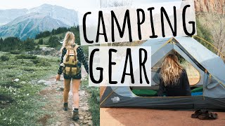CAMPING ESSENTIALS // OUR CAMPING GEAR