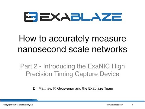 Part 2 - Introduction the ExaNIC High Precision Timing Capture Device