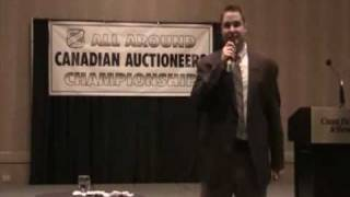 Louis Balog, @ 2011 Alberta Auctioneers All Around Canadian Auctioneers Championship