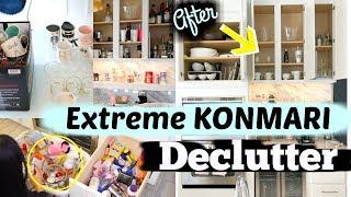 Extreme Kitchen Declutter Inspired By Marie Kondo KonMari Method - MissLizHeart