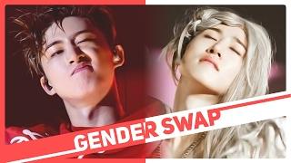 K-POP GENDER SWAP - BOYS UNLEASH THEIR FEMININE SIDE!
