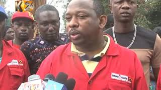 Nairobi Gov. elect Mike Sonko rolls out 'safisha jiji intiative' at the CBD
