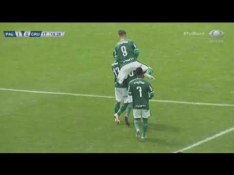 Gol | Lucas Esteves | 25.08.2019 | Palmeiras 3 x 1 Cruzeiro | Brasileiro Sub-20 - 11ª Rodada