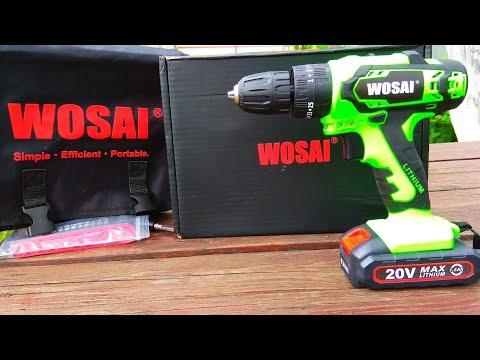 Аккумуляторная ударная дрель шуруповёрт WOSAI WS-2020