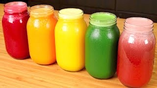 5 HEALTHY JUICE Recipes (for Weight Loss, Glowing Skin, Hair, Detox, And Cleanse)