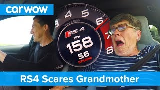 Hilarious - my 70 year old mom reacts to Audi RS4 performance | Mat Vlogs